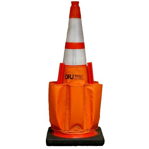 Traffic Cone Wand Caddy Orange Drj Safety Inc