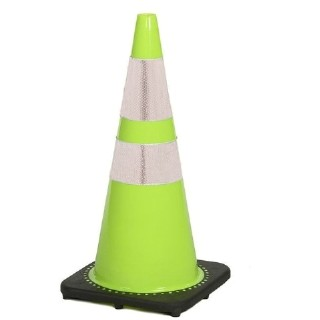 "28"" Fluorescent Lime Green Traffic Cone with Reflective Collars: DRJ Safety, Inc."