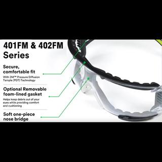 3M SecureFit Foam-Lined Safety Glasses